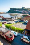 Scenic view of Whitby city in sunny autumn day,UK Royalty Free Stock Image