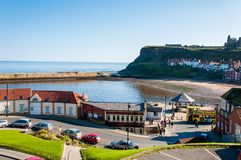 Scenic view of Whitby city in sunny autumn day,UK Royalty Free Stock Images