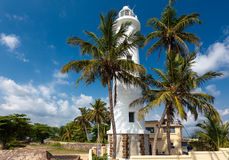 Scenic view at white lighthouse in Galle fort, Sri Lanka during Stock Photos