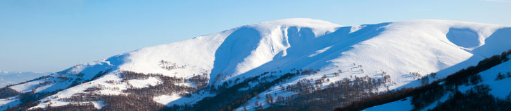 Scenic view of the winter mountains Stock Photos