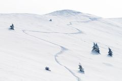 Scenic view of winter mountains Royalty Free Stock Image