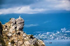Scenic view of Yalta in Crimea Royalty Free Stock Photos