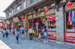 Scenic view of the Yunnan Nationalities Village which is located at Kunming Yunnan, people can seen exploring around it. Royalty Free Stock Photography