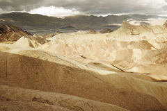Scenic view of Zabriskie Point Stock Images