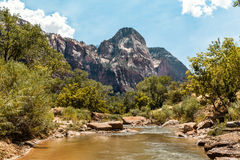 Scenic view at Zion National Park, USA Royalty Free Stock Photo