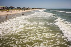 Free Scenic Views At Oak Island Beach North Carolina Stock Images - 77407894