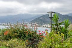 Scenic views of the Bay Stalis, island of Crete royalty free stock image