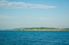 Scenic Views of Block Island in Rhode Island. stock photos