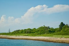 Scenic Views of Block Island in Rhode Island. stock images