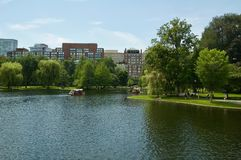 Scenic Views of the Boston Public Garden in Boston, Massachusetts. stock image