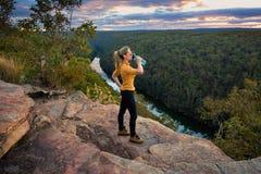 Scenic views bushwalking Blue Mountains Australia Stock Image