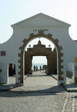 Scenic Views of Cadiz in Andalusia, Spain. La Caleta - Entrance to the Cadiz Beach where James Bond was filmed. Andalusia, Spain royalty free stock image