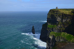 Scenic Views of the Cliff`s of Moher and Galway Bay Stock Photos