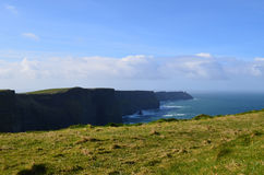 Scenic Views of the Cliff`s of Moher in Ireland Stock Photography