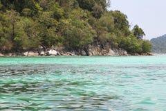 Scenic views of the coastline of archipelago Koh Lipe Island Stock Photography