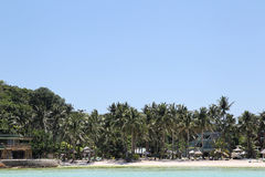 Scenic views of the coastline of Boracay Island Royalty Free Stock Images
