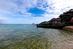 Scenic views of the coastline of island Koh Tao Stock Image