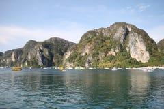 Scenic views of the coastline of Phi Phi Island Royalty Free Stock Image