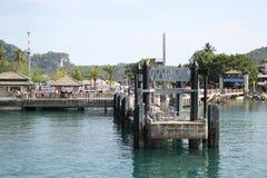 Scenic views of the coastline of Phi Phi Island Stock Photography