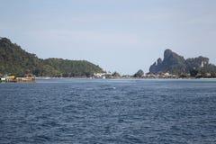 Scenic views of the coastline of Phi Phi Island Royalty Free Stock Photos