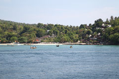 Scenic views of the coastline of Phi Phi Island Royalty Free Stock Photography