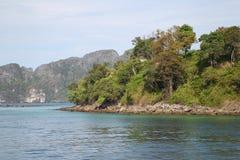 Scenic views of the coastline of Phi Phi Island Royalty Free Stock Photo