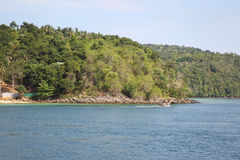 Scenic views of the coastline of Phi Phi Island Royalty Free Stock Images