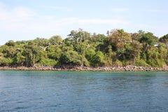 Scenic views of the coastline of Phi Phi Island Stock Photo
