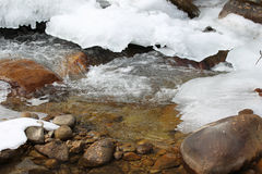 Scenic views of the mountain stream Royalty Free Stock Images