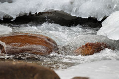 Scenic views of the mountain stream Stock Image