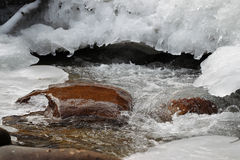 Scenic views of the mountain stream Royalty Free Stock Photography