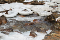 Scenic views of the mountain stream Stock Images