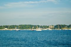 Scenic Views of Newport Marina in Newport, Rhode Island. royalty free stock photos