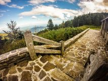 Scenic views at sunset on top of mount mitchell Royalty Free Stock Photo