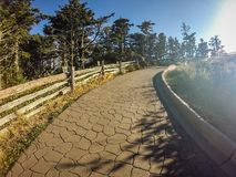 Scenic views at sunset on top of mount mitchell Royalty Free Stock Photography