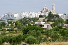 The scenic village of Locorotondo on Puglia Stock Image