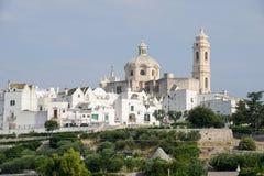 The scenic village of Locorotondo on Puglia Stock Photos