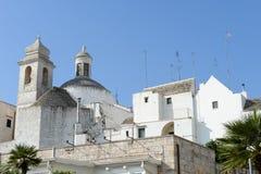The scenic village of Locorotondo on Puglia Stock Images