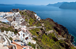 Scenic village of Oia at Santorini Stock Photography