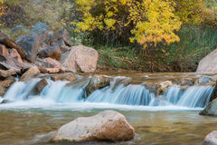 Scenic Virgin River in Fall Stock Images
