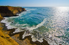 Scenic Vista on California State Route 1 Stock Images