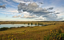 Scenic Vista Colorado Ranch. A scenic panoramic view of a sprawling ranch on the outskirts of Denver, Colorado Royalty Free Stock Images