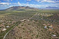 Scenic Vista of east Mesa and Apache Junction Stock Image