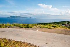 Scenic vista overlooking Batangas City, Philippines stock images