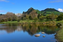 Scenic Waikato River at Whakamaru Stock Images