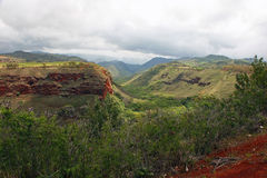 Scenic Waimea Canyon Hawaii Stock Photo