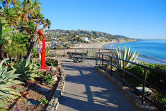 Scenic walkway in Heisler Park, Laguna Beach, CA. Stock Images