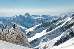 Scenic wallpaper from high mountain in Austrian Al Stock Images