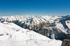 Scenic wallpaper with peaks of the austrian alps Royalty Free Stock Photos