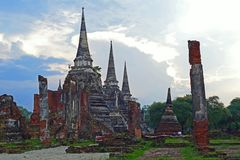Scenic Wat Phra Si San Phet in Ayutthaya, Thailand stock photo